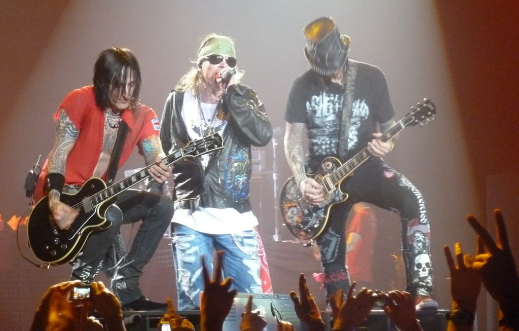 Axl Rose and the other members of GN